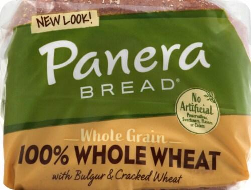 Panera Bread Whole Grain 100% Whole Wheat Sliced Bread Perspective: top