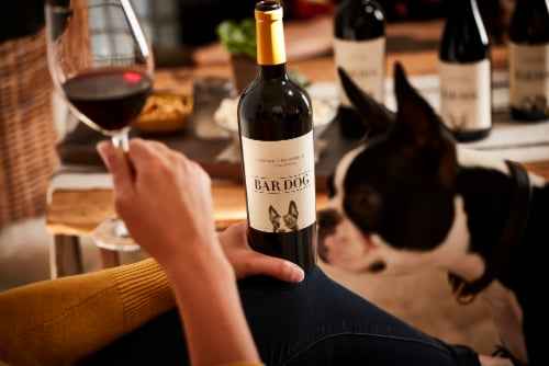 Bar Dog Cabernet Sauvignon Red Wine Perspective: top