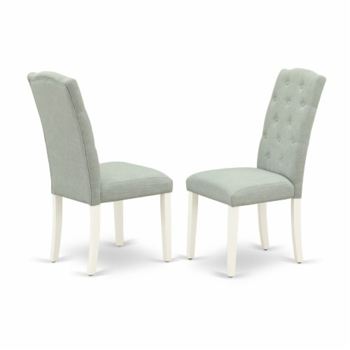 NONI5-WHI-W 5 PcTable and Chairs set for 4-Dinette Table and 4 Dining Chairs Perspective: top