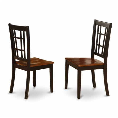 East West Furniture Vancouver 7-piece Wood Dining Set in Oak Perspective: top