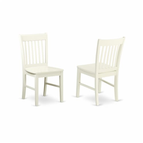 5Pc Dinette Set-a Table & 4 Fabric Chairs,Cream Chairs Seat,Linen White Perspective: top