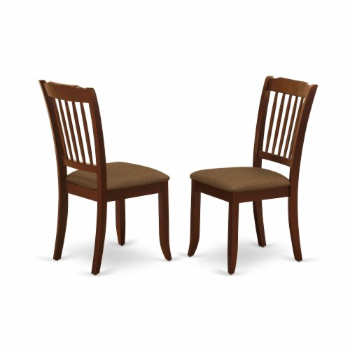 ESFL3-MAH-18 - 3-Pc Dining Table Set - 2 Kitchen Chairs and 1 Table (Mahogany) Perspective: top