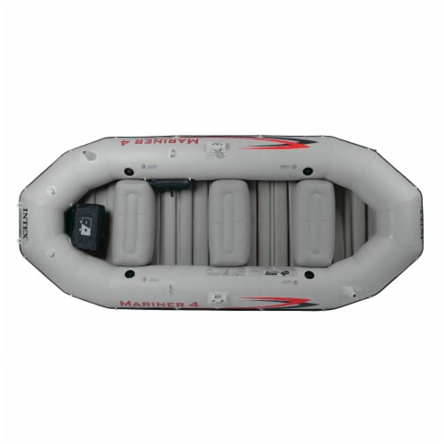 Intex Mariner 4-Person Inflatable River Lake Dinghy Boat and Oars Set (2 Pack) Perspective: top