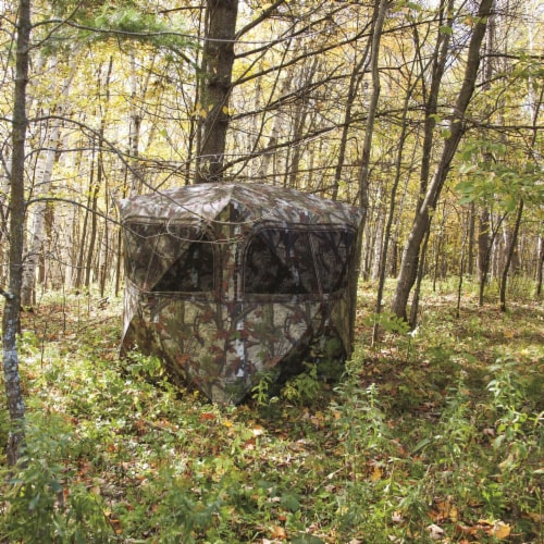 Barronett Grounder 350 Bloodtrail Camo Pop Up Ground Hunting Blind (2 Pack) Perspective: top