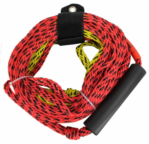Airhead Tube Rope 2 Section w/ Floater 2 Rider Towable Lake Boat Water (6 Pack) Perspective: top