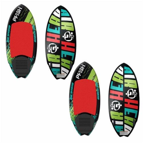 Airhead Pfish Beginner to Advanced 2 Fin Skim Style Wakesurf WakeBoard (2 Pack) Perspective: top