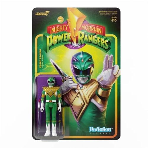 Super7 Power Rangers Green Ranger Reaction Figure Perspective: top
