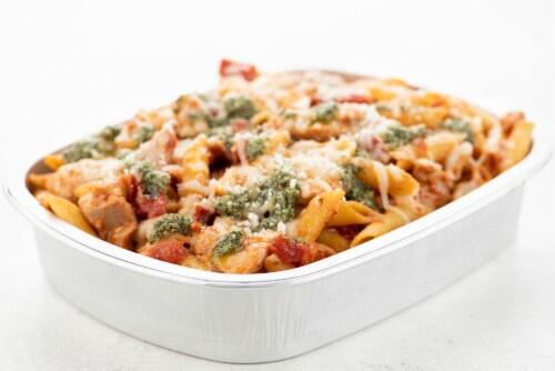 Home Chef Oven Kit Bruschetta Chicken Penne Pasta Bake Perspective: top