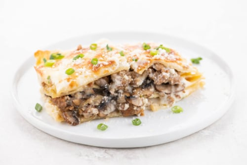 Home Chef Value Meal Kit Italian Sausage And Mushroom Weekend Lasagna Perspective: top