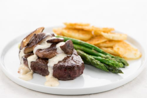 Home Chef Culinary Collection Shiitake Sirloin Steak And Hollandaise Perspective: top