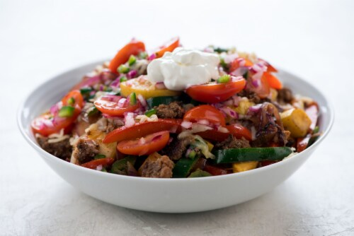 Home Chef Meal Kit Acapulco Fajita Beef Skillet With Pico De Gallo Perspective: top