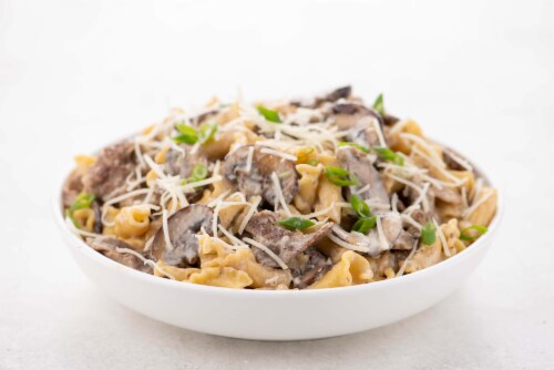 Home Chef Meal Kit Beefy Swiss Fondue Campanelle With Mushrooms Perspective: top