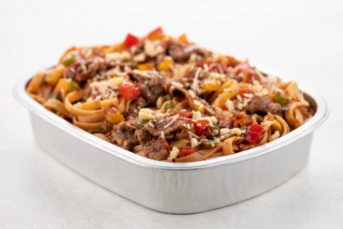 Home Chef Oven Kit Steak Ragu with Fettuccine and Peppers Perspective: top