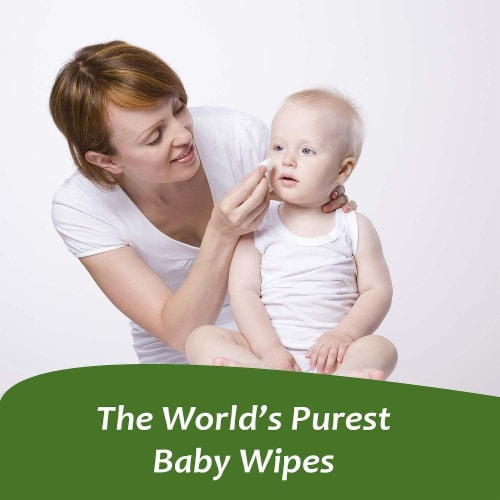 WBM Baby Care Wipes, Natural, Flushable, Unscented & Wet Wipes | Flip-Top Packet | 12 of Pack Perspective: top