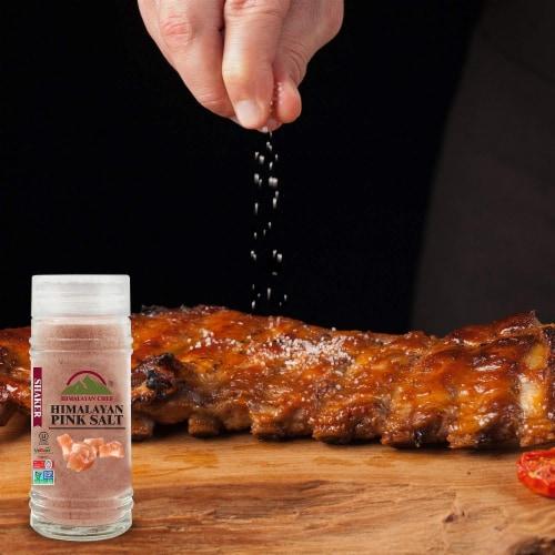 Himalayan Chef Himalayan Pink Salt, Vegan & Kosher Certified, 4.2 Oz Glass Shaker – 6 Packs Perspective: top