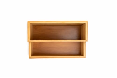 Core Home Small Bamboo Vanity Organizer Perspective: top