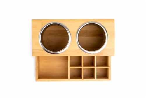 Core Home Large Bamboo Hair Accessories Organizer Perspective: top