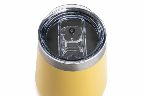 Manna Stemless Insulated Wine Glass - Yellow Perspective: top