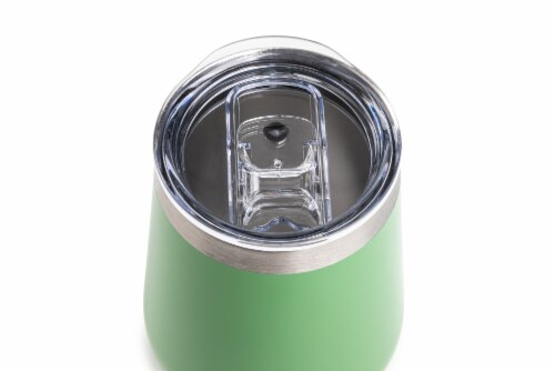 Manna Stemless Insulated Wine Glass - Green Perspective: top