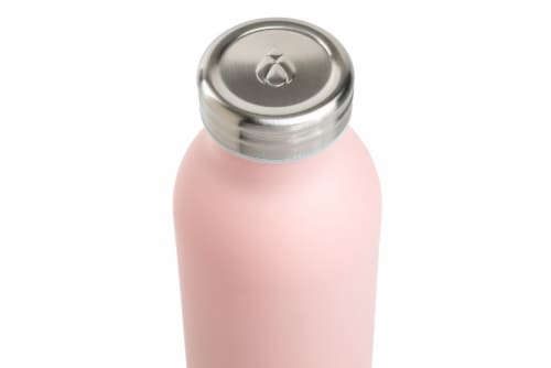 Manna Retro Water Bottle - Pale Pink Perspective: top