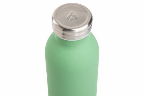 Manna Retro Water Bottle - Green Perspective: top