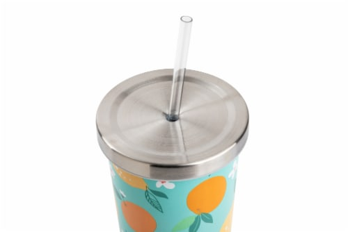 Manna Stainless Steel Chilly Tumbler - Citrus Perspective: top
