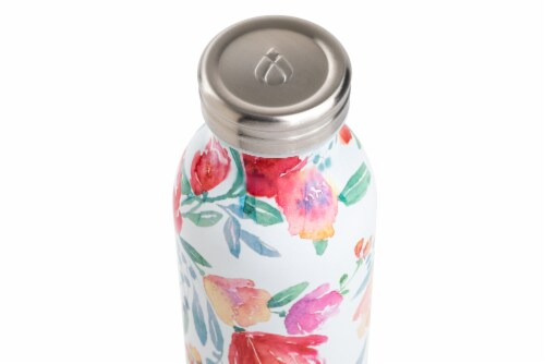 Manna Retro Water Bottle - Watercolor Floral Perspective: top