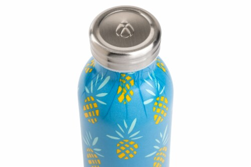 Manna Retro Water Bottle - Pineapple Perspective: top