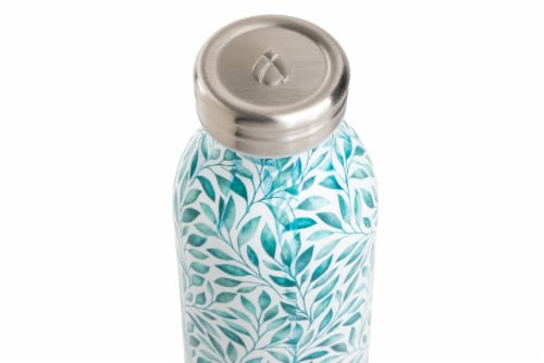 Manna Retro Water Bottle - Leaves Perspective: top