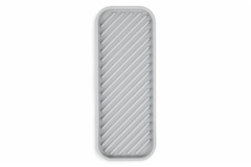 Core Kitchen Silicone Sink Tray - Gray Perspective: top