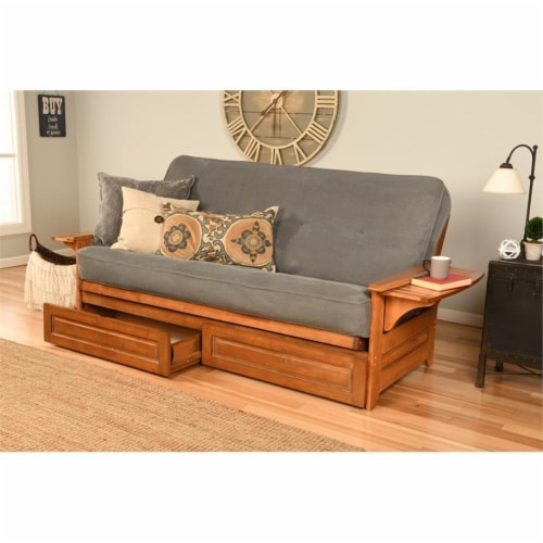 Kodiak Furniture Phoenix Frame with Fabric Mattress in Marmont Blue/Barbados Perspective: top