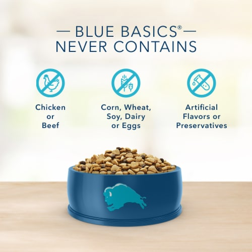 Blue Basics Limited Ingredient Diet Salmon and Potato Recipe Adult Dog Food Perspective: top
