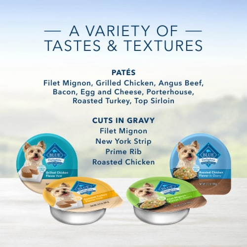 Blue Buffalo Divine Delights Porterhouse Flavor Pate Small Breed Dog Food Perspective: top
