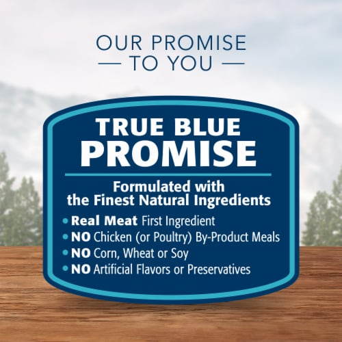 Blue Wilderness High Protein Chicken Natural Senior Dry Dog Food Perspective: top
