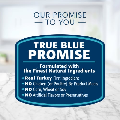 Blue Buffalo Tastefuls Turkey and Chicken Entree Pate Wet Cat Food Perspective: top