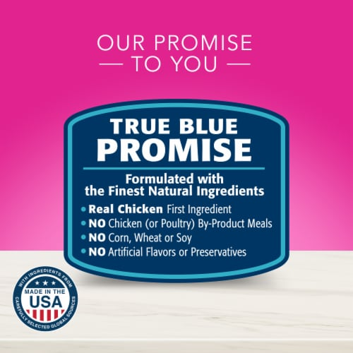 Blue Buffalo True Solutions Hairball Control Natural Food for Adult Cats Perspective: top