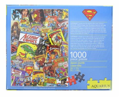 DC Comics Superman Comic Collage 1000 Piece Jigsaw Puzzle Perspective: top