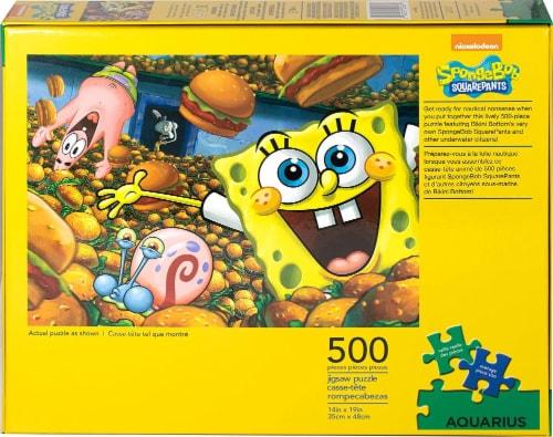 SpongeBob SquarePants 500 Piece Jigsaw Puzzle Perspective: top