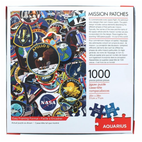 NASA Mission Patches 1000 Piece Jigsaw Puzzle Perspective: top