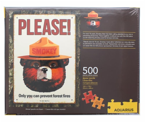 Smokey Bear 500 Piece Jigsaw Puzzle Perspective: top