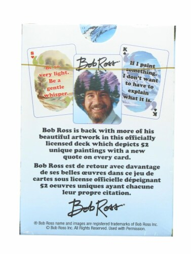 Bob Ross Quotes 2 Playing Cards | 52 Card Deck + 2 Jokers Perspective: top