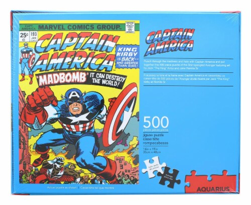 Marvel Captain America #193 Comic Cover 500 Piece Jigsaw Puzzle Perspective: top