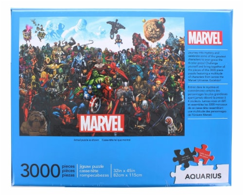 Marvel Cast 3000 Piece Jigsaw Puzzle Perspective: top