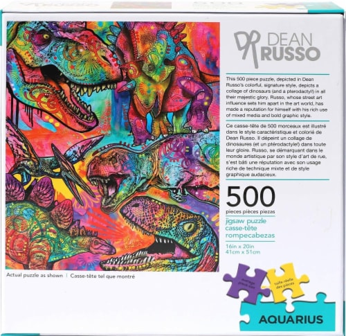 Dean Russo Dinosaurs 500 Piece Jigsaw Puzzle Perspective: top