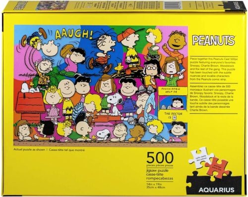 Peanuts Cast 500 Piece Jigsaw Puzzle Perspective: top