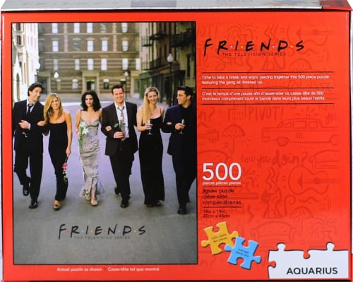Friends Wedding 500 Piece Jigsaw Puzzle Perspective: top