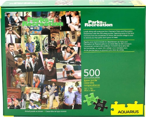 Parks and Recreation Collage 500 Piece Jigsaw Puzzle Perspective: top