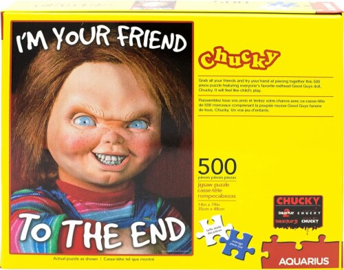 Childs Play Chucky 500 Piece Jigsaw Puzzle Perspective: top