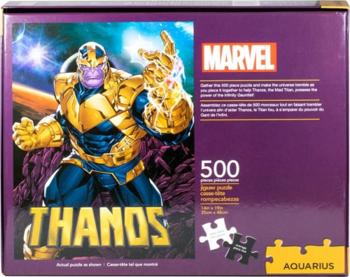 Marvel Thanos 500 Piece Jigsaw Puzzle Perspective: top