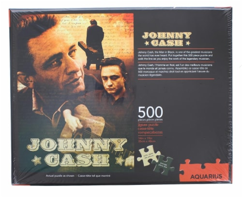 Johnny Cash 500 Piece Jigsaw Puzzle Perspective: top